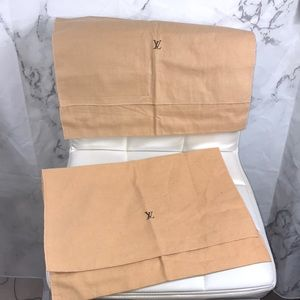 Louis Vuitton dust bag brown purse cover set of 2